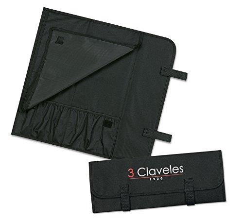 3 Claveles - Estuche Profesional Porta Cuchillos, Lona Rígi