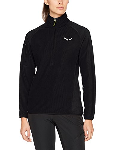 Salewa Damen PUEZ PLOSE 2 Polarlite Half-Zip Pullover, Black Out, 42