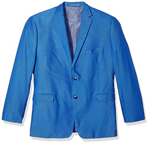 U.S. Polo Assn. Herren Big and Tall Fancy Cotton Sport Coat Sportjacke, Blue Dot Hopsack, 60 Regulär