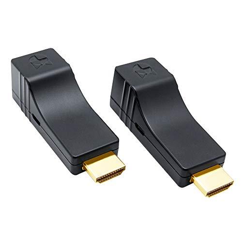 DDMALL 60M HDMI Extender über CAT5e/CAT6 Kabel, Kein Verlust, Keine Verzögerung, USB-Betrieben, Full HD, 3D, HDCP, Keine Verzögerung, Keine zusätzlichen Kabel erforderlich, HDMI Sender Empfänger Kit