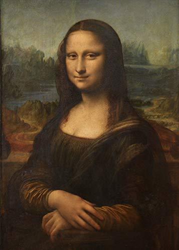 Legendarte Schilderij van Leonardo Da Vinci-Mona Lisa-Digital Print op Canvas-cm. 50x70, Linnen, Multi kleuren