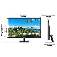 "Samsung Smart Monitor M5 (S27AM502), Flat 27"", 16:9, 1920x1080 (Full HD), Piattaforma Smart TV (Amazon Video, Netflix), Airplay, Mirroring, Office 365, Wireless Dex, Casse Integrate, WiFi, HDMI, USB #3"