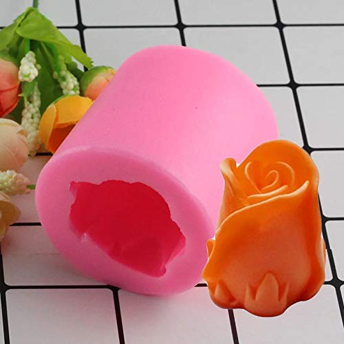 LNOFG 3D Rose Flower Silikonform Candy Chocolate Eiscreme Clay Cake Decoration Tool