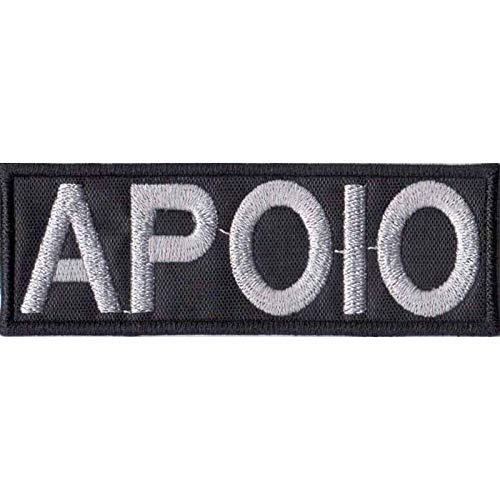 Patch Bordado - Airsoft Tarja Apoio Negativa DV80016-16 Fecho de Contato