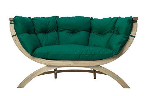 AMAZONAS Lounge Sofa Siena Due Verde aus FSC Fichtenholz ca. 170 x 95 x 65 cm bis 250 kg in Grün