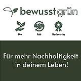 BewusstGrün I 12 Faire & Nachhaltige Stoffservietten I 100% Bio-Baumwolle I 45x45 cm Grau - 7