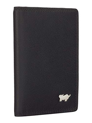BRAUN BÜFFEL Kartenetui Golf 2.0 - aus echtem Leder - 10 Fächer Schwarz