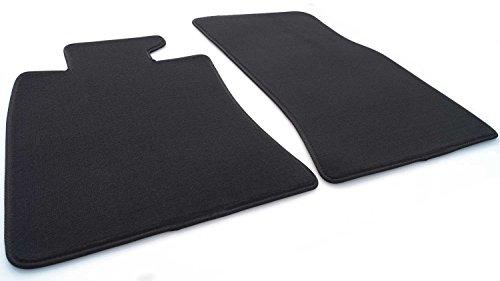 Kh Teile - Alfombrillas para coche Mini R55 R56 (terciopelo), calidad original, 2 piezas delanteras, color negro