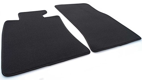 kh Teile Fußmatten Mini R55 R56 (Velours) Automatten Original Qualität, 2-teilig Vorne, Schwarz