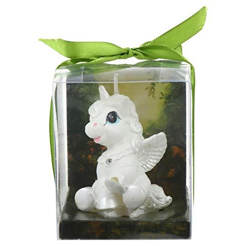 PRETYZOOM Velas de Cumpleaños de Unicornio Velas de Unicornio sin Humo Velas de Unicornio para Suministros de Fiesta Y Regalos de Boda Blanco