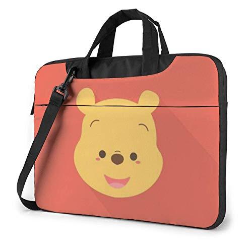 XCNGG Winnie Laptop Bag Business Maletín para Hombres y Mujeres, Bandolera de Hombro, Funda para Laptop, Bolsa de Transporte, 15.6 Pulgadas