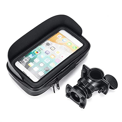 hclshops 6.3 pulgadas bicicleta bicicleta teléfono teléfono titular caso caso impermeable MTB motocicleta soporte soporte soporte soporte GPS para Android IOS teléfono soporte (color: tipo manillar)