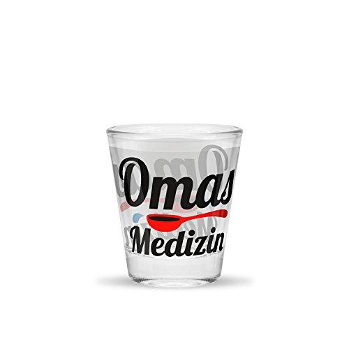 Sheepworld Schnapsglas Motiv Omas Medizin