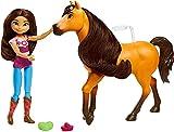 Spirit L'indomptable, coffret Câlins avec poupée Lucky et figurine cheval Spirit pour rejouer les scènes du film, jouet pour enfant, GXF67