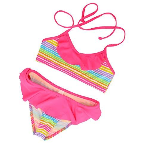 LOREEN Bikini, 2-teiliger Badeanzug für Mädchen  Gr. 8-9 Jahre 140 cm, regenbogenfarben