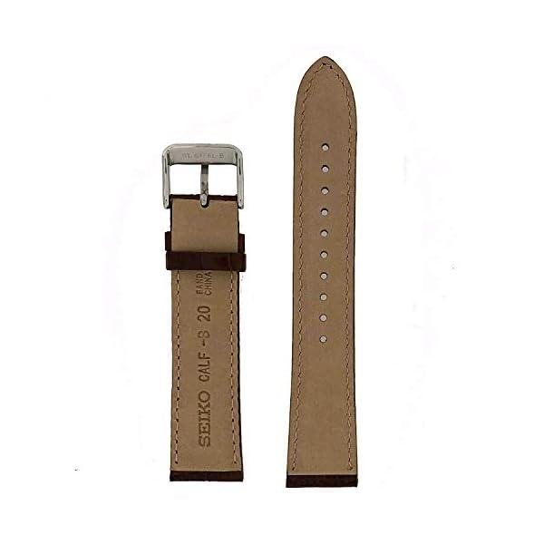 Fashion Shopping Seiko Genuine Textured Brown Leather Alligator Grain, No Color, Size No Size