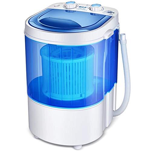 PIGE Elución integrada Baby Baby Mini Lavadora, función de temporización Inteligente UV Antibacterial Ultra silencioso 2.2 kg Capacidad de Lavado, hogar Dormitorio Micro-Lavadora (Color : Azul)