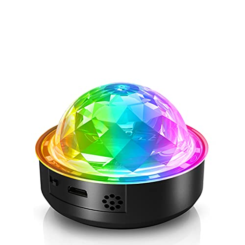 LED Discokugel, Mini RGB Discolampe Musikgesteuert Partyleuchte, USB Wiederaufladbar Disco Lichteffekt Partylicht Bühnenbeleuchtung für Kinder, Bar, Club, Party
