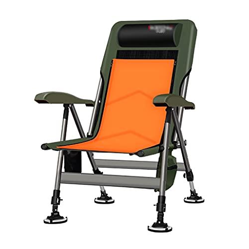 Fischerstühle Angelstuhl Outdoor-Liegestuhl Campingstuhl Multifunktionaler Klappstuhl Kann 200 Kg Geschenk Tragen BIGYOUZI (Color : A, Size : 47.5 * 90 * 60cm)