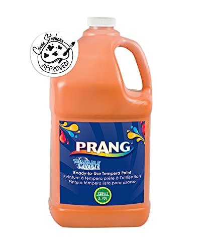 PRANG Ready-to-Use Washable Tempera Paint, 1 Gallon Bottle, Orange (10602)