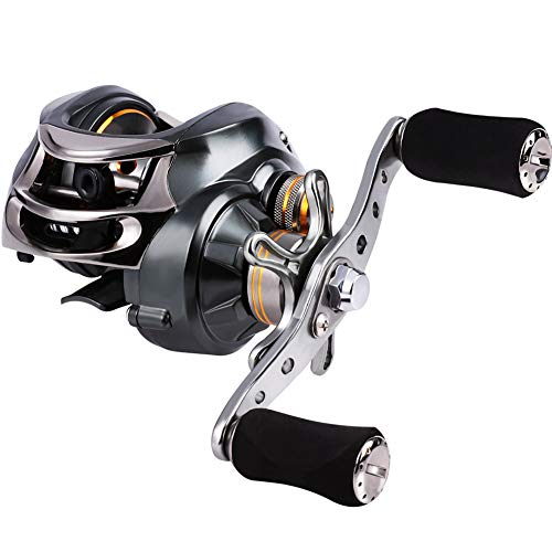 Sougayilang Baitcasting Fishing Reel, 11+1 Shielded Bearings, 18LB Carbon Fibre Drag, 7.0:1 Baitcsters,Magnetic Brake System Fishing Reel