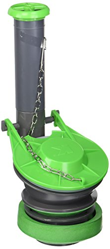 Plumb Pak K835-9 Adjustable High Performance Toilet Flush Valve with 3 in Flapper, 2 in Inlet, Plastic, Gray, Green Grey