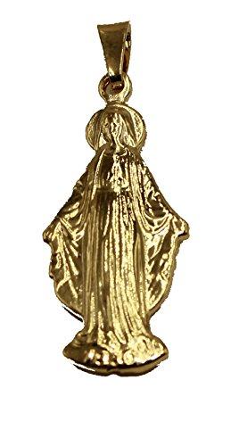 Diamantados of Florida Virgen Milagrosa–Nuestra Señora Milagrosa Medalla 18K Chapado en Oro Medalla enchapada Colgante con Cadena