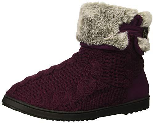 Dearfoams Women's Cable Knit Boot Slipper