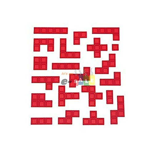 BLOKUS Game Replacement Parts ~ 21 RED PIECES