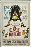 Cat BALLOU Film Poster Jane Fonda Rare Hot Vintage