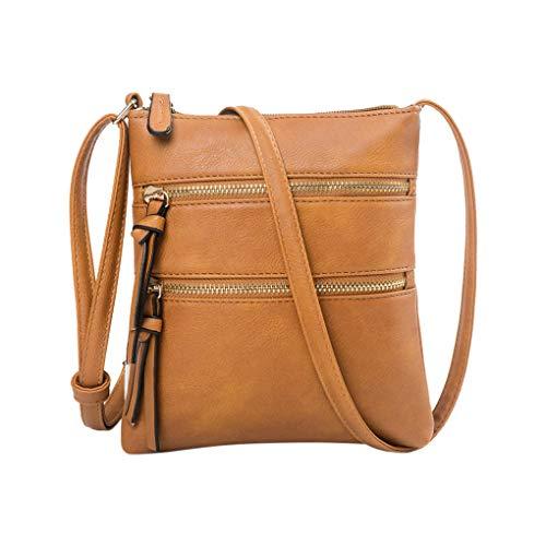Handy Schultertasche für Damen/Skxinn Mädchen Sportliche Handtasche Umhängetasche Schultertasche aus PU-Leder für Frauen, Wandern, Reisen,Party,Ausverkauf(Braun)