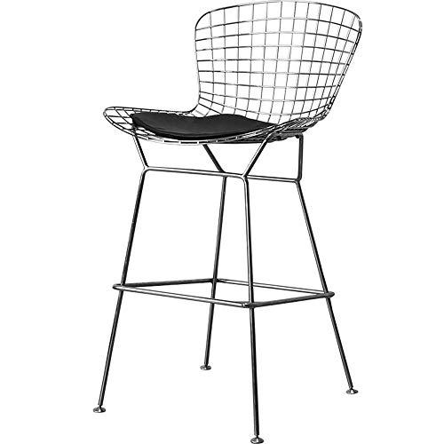 Haushaltsprodukte Lounge Bar Stuhl Upcycle Modern High Bar Metall Leder Kissen Stuhl Barhocker Cafe Front Bar Tisch Stuhl (Größe: H 70cm)