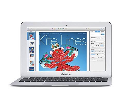 Apple MacBook Air 13 - Ordenador portátil de 11.6' (Intel Core i5, 4 GB de RAM, 128 GB de Disco Duro, Intel HD Graphics 6000, OS X Yosemite) Color Aluminio - Teclado QWERTY Español (Reacondicionado)
