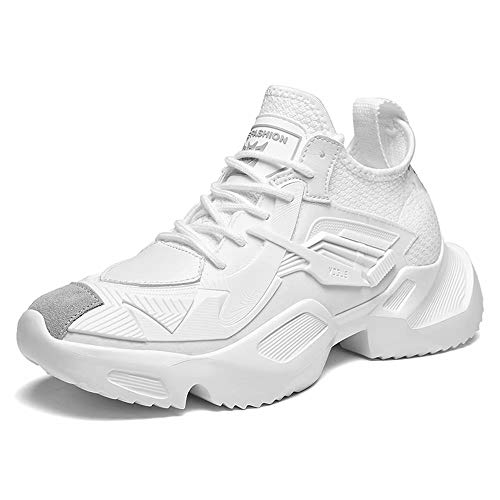 GSLMOLN Tennis Shoes for Men Slip on Best Lightweight Athletic Jogging Comfortable Workout Fitness Sneakers Mens White 39