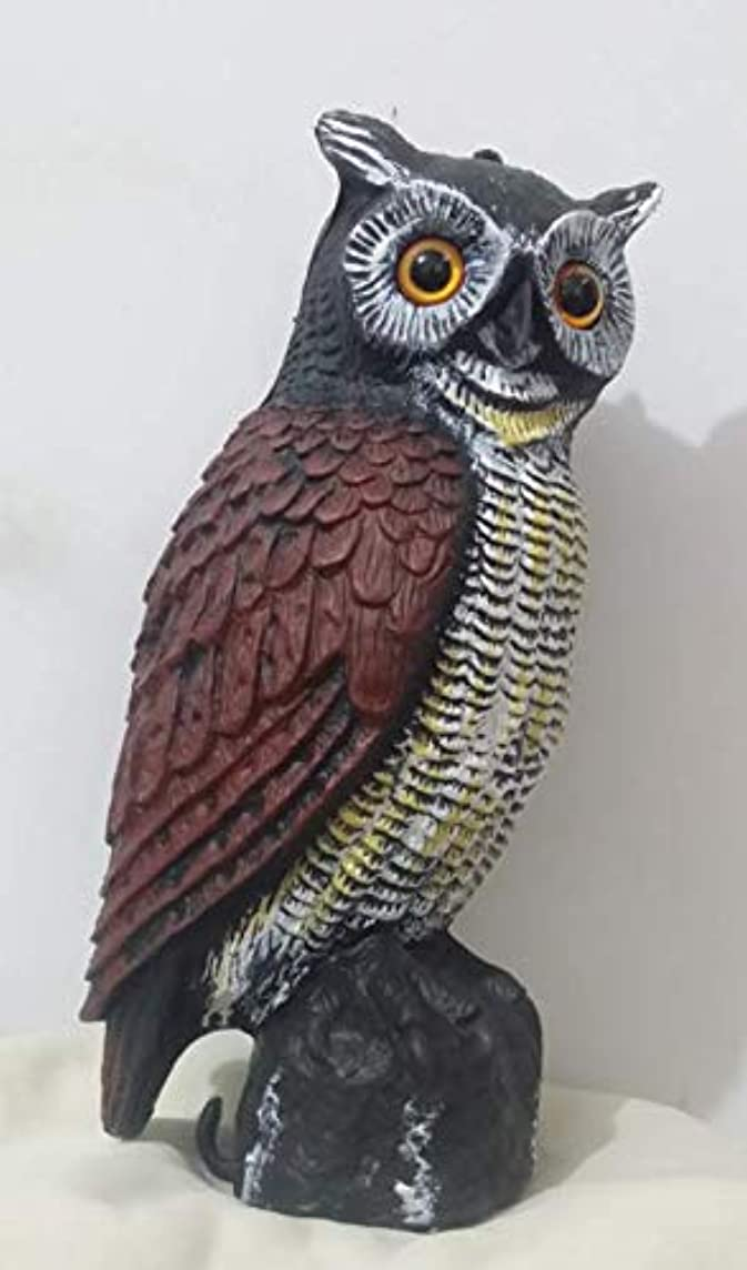 ZILIN Plastic Owl Decoy Visual Scare of Birds