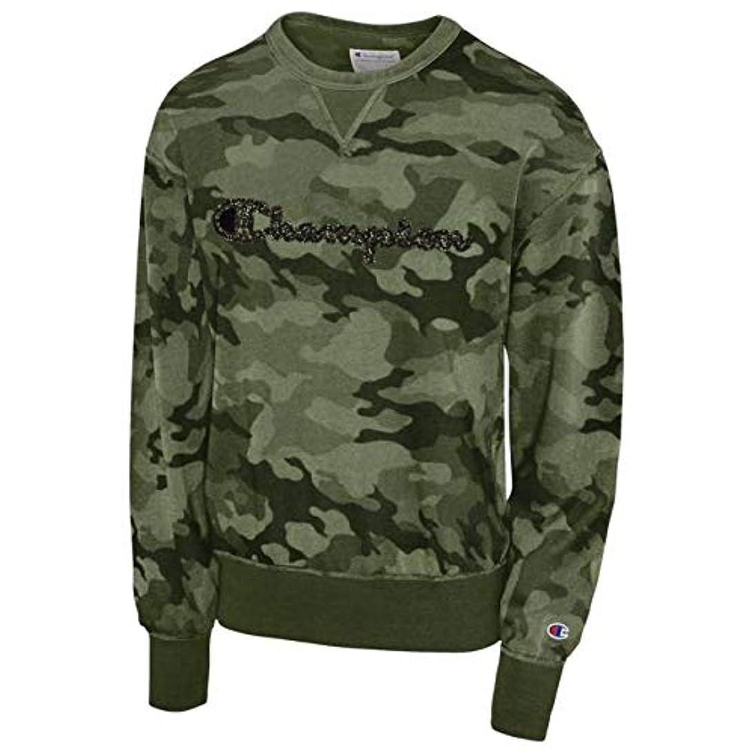 フリル色持つ(チャンピオン)Champion Vintage Dye Fleece Camo Crew メンズ パーカー?トレーナー [並行輸入品]