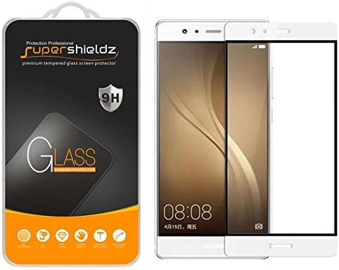 2 Pack Supershieldz for Huawei P9 Plus Tempered Glass Screen Protector Full Screen Coverage product image