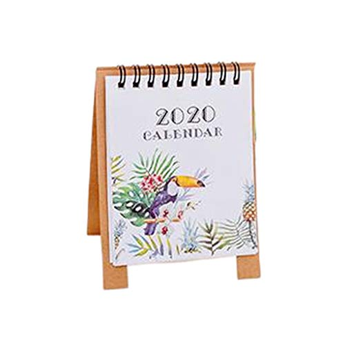 XinYuan Dibujo a Mano 2020 Mini Papel calendarios de Escritorio Calendario de...
