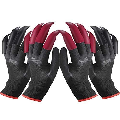 IME Gartenhandschuhe mit Krallen Wasserdicht Gartenhandschuhe Genie Handschuhe zum Graben Pflanzen Bauernhof, Arbeitshandschuhe mit 8 Krallen Beste Wahl für Garten 2 Paar