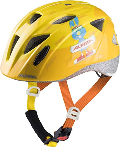 ALPINA XIMO Fahrradhelm, Kinder, orange-rabbit, 47-51