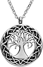 SmartChoice Cremation Urn Necklace for Ashes with Beautiful Gift Box Tree of Life Cremation Urn Jewelry