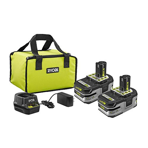 RYOBI 18V ONE+ Lithium+ 3.0 Ah Battery 2-Pack Starter Kit with Charger and Bag P166