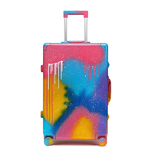 Suitcase Trolley, Suitcase Luggage,Graffiti Art, Fashion Trends,Carry on Hand Cabin Luggage Hard Shell Travel Bag Lightweight,Durable 4 Spinner Wheels,28 inch