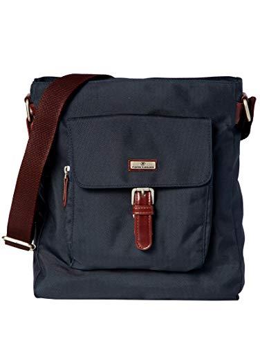TOM TAILOR Damen Taschen & Geldbörsen Umhänge-Tasche aus Nylon dark blue cognac,OneSize