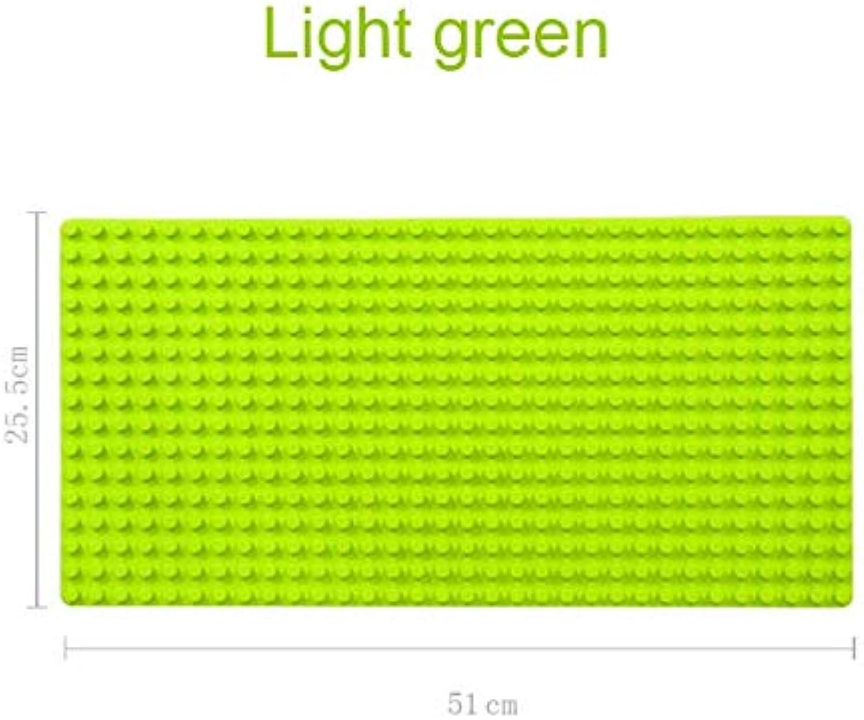 Generic 1pcs lot Big Particles Building Blocks Base Plate 5125.5cm Baseplate 100% Compatible Duploe Kids DIY Bricks Baseplate Toys Light Green