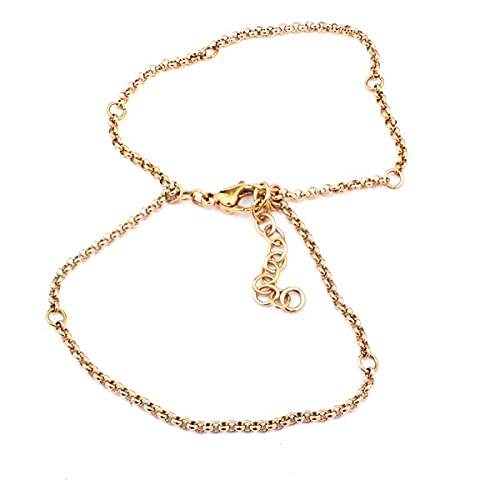 Pulsera de mujer de acero inoxidable de la marca Folli Follie, color dorado, 17 centímetros (referencia: 1B0T023RL)