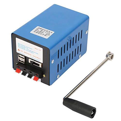 Generador manual de manivela, Generador de carga de manivela portátil de alta potencia, Generador de emergencia de carga USB para Camping Supervivencia al Aire Libre