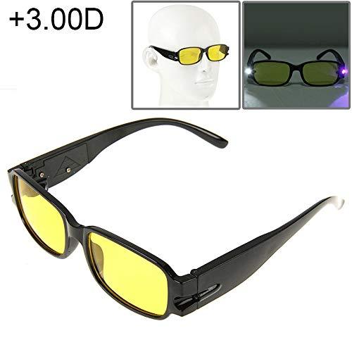 Unisex LIJM UV-bescherming Geel Resin Lens Leesbril Met Het Opsporen Van Valuta-functie, 1.00 D Lezing (Color : Color4)