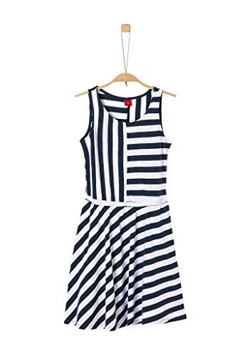 s.Oliver RED LABEL Mädchen Gestreiftes Jerseykleid stoker blue stripes 152.REG