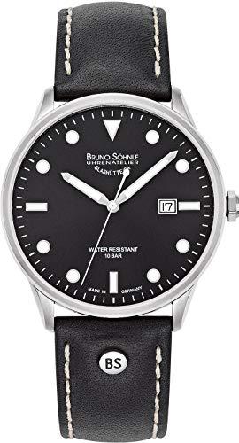 Bruno Söhnle Herren Analog Quarz Uhr mit Leder Armband 17-13182-791